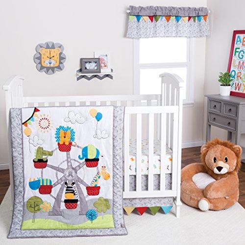 Trend Lab Jungle Ferris Wheel 3 Piece Crib Bedding Set ()