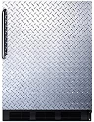 Summit FF63BDPL Refrigerator, Silver With Diamond Plate