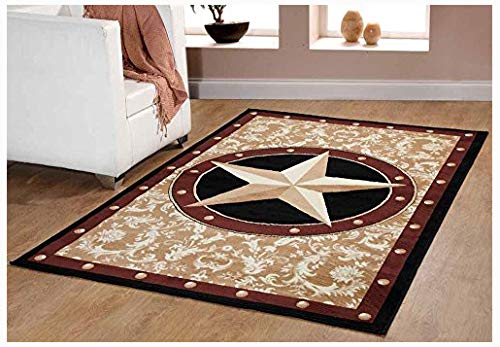 Furnish my Place Texas Western Star Rustic Cowboy Decor Area Rug, 40