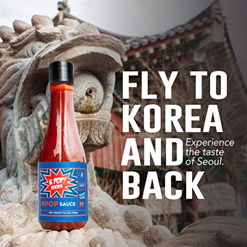 KPOP Gochujang Sauce by KPOP Foods. Savory Authentic Gochujang Sauce, 10.4oz Squeeze Bottle. Made with 100% Real Gochujang Korean Chili Paste. Medium Heat. 10.4 Ounce (Pack of 1)