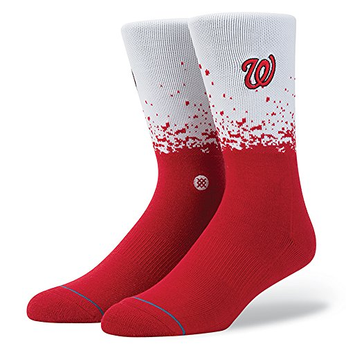 (Stance Fade Men's MLB Stadium Socks (Nationals, Large))
