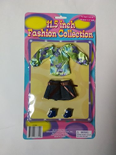 (Set of 4) 11.5 in. Fashion Doll Clothes/Shoes