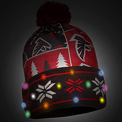 Atlanta Falcons Exclusive Busy Block Printed Light Up Beanie