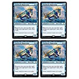 Magic The Gathering - Wavebreak Hippocamp - Theros Beyond Death - x4 Card Lot Playset - 080/254 Rare MTG