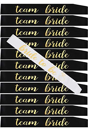 12 Pack Bachelorette Party sash Set/Bride to be sash/Bridesmaid sash, Team Bride or Bride Tribe sash as Bridal Shower Decorations, Bachelorette Party Favors or Supplies, Maid of Honor Gifts. by Gemich (Image #3)
