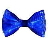 Light Up Bow Tie 7 Glow Colors LED Bowties - 1clienic 2019 Upgrade USB Rechargeable White Fiber Optic Glow Neck Tie Christmas New Year Halloween Valentine Rave Music Festival
