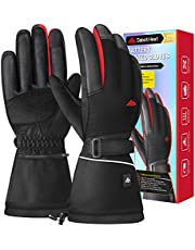 SabotHeat 2021 Upgrade Heated Gloves - Rechargeable 3000mAh Electric Heating Gloves, 4 Temperature Settings Heated Gloves for Men Women, Washable Winter Gloves for Skiing Motorcycling Hiking