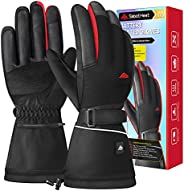 SabotHeat 2021 Upgrade Heated Gloves - Rechargeable 3000mAh Electric Heating Gloves, 4 Temperature Settings He