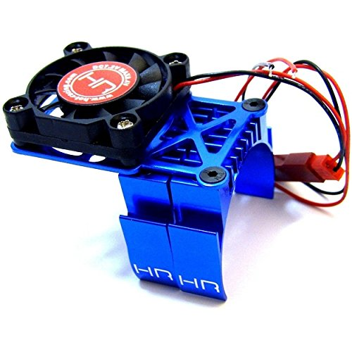 (Hot Racing MH550TE06 Blue Multi Mount Fan Heat Sink 36mm Motors,)