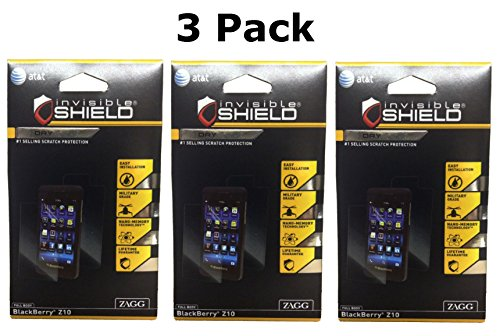 Zagg Invisibleshield Screen Protector Dry for Blackberry Z10 Full Body (3 Pack)