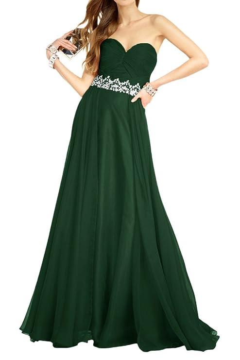 Royaldress Schoenes Chiffon DunkelRoyal Blau Abendkleider  Brautjungfernkleider Promkleider Steine Guertel Lang: Amazon.de: Bekleidung