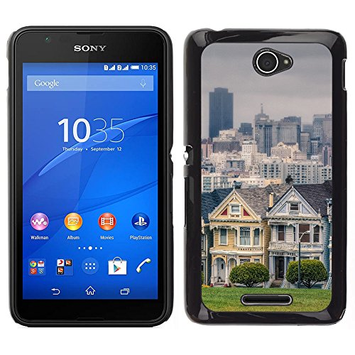 sony-xperia-e4-xperia-e4-dual-snap-on-series-plastic-back-case-shell-skin-cover-victorian-houses-in-