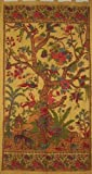 Tree of Life Tab Top Curtain-Drape-Door Panel-Mustard