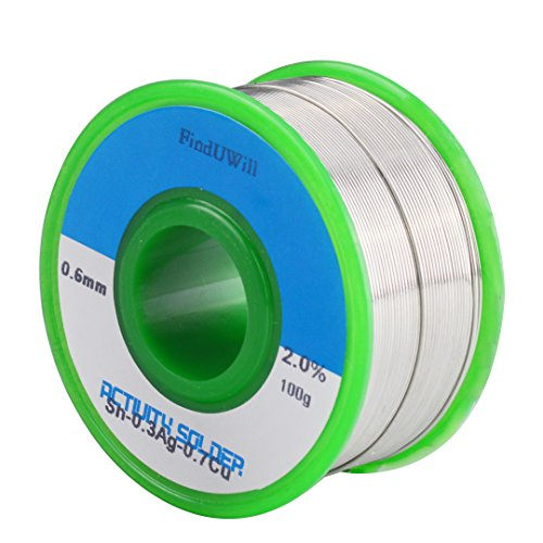 (0.6mm,100g) Lead-free Solder Wire Flux-core Solder Welding Wire Electronical Soldering with Rosin Core,Sn99 Cu0.7 Ag0.3