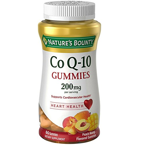 200 Peach - Nature's Bounty CoQ-10 Gummies 200 mg, Peach Mango Flavored 60 ea (Pack of 5)