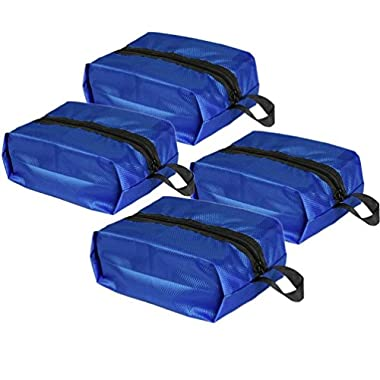 HiDay 4pcs Portable Waterproof Travel Shoe Bags Organizer Pouch with Zipper Closure