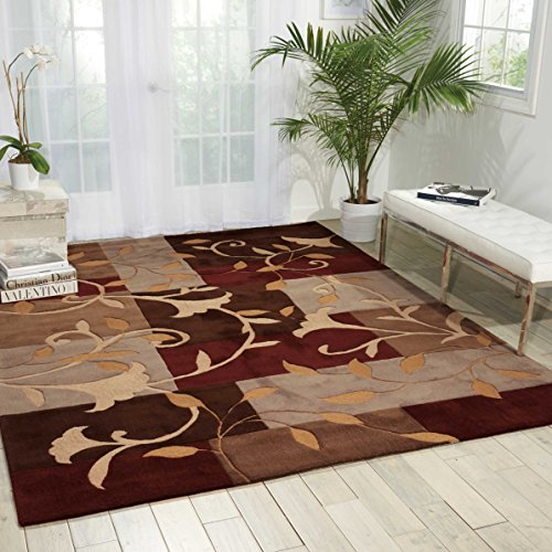 Nourison Contour Mocha Rectangle Area Rug, 8-Feet by 10-Feet 6-Inches (8' x 10'6