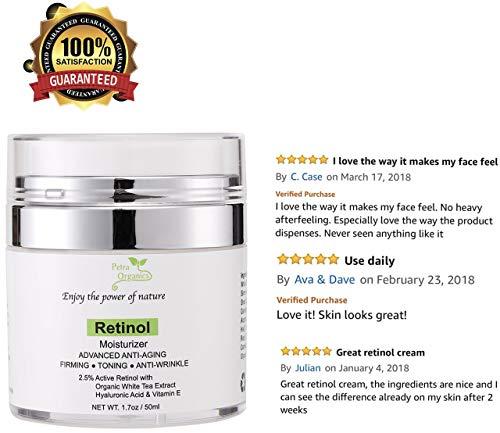 51GL8VCtajL - Retinol Moisturizer for Face and Eye Area - Wrinkle Cream for Women - Retinol Night Cream with Retinol, Hyaluronic Acid, Shea butter and Vitamin E - 1.7oz / 50m