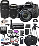 Canon EOS Rebel T6S Digital SLR Camera w/ EF-S 18-135mm STM + 75-300mm Zoom Lens Bundle includes Camera, Lenses, Filters, Bag, Memory Cards, Remote, Power Grip, Tripod ,and More -International Version
