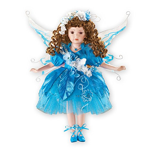 Women's Tanya Blue Fairy Porcelain Doll 16