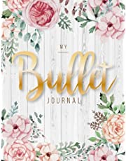 My Bullet journal: quarterly planner with blank yearly & monthly calendar, and habit tracker, 120 dot grid & 15 lined pages, 8.5x11in, White wood flower: Professional design large diary journal to write in everyday life