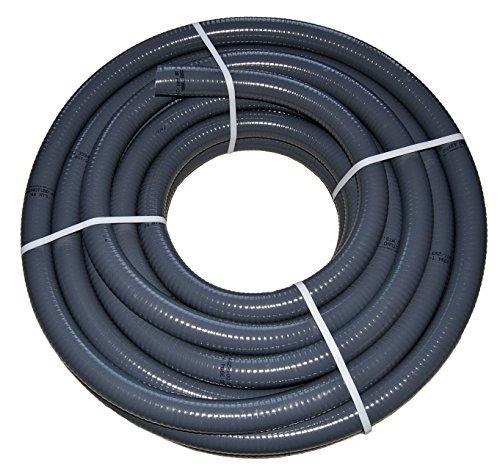 PVC Flexschlauch, Klebeschlauch, Teichschlauch, Poolflex, Aussendurchmesser 40mm, für Schwimmbad, Pool, Teich (15m)