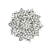 Ezing Fashion Jewelry Beautiful Silver Plated Rhinestone Crystal Brooch Pin For Woman