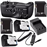 Sony Vertical Battery Grip for Alpha A99 DSLR Camera + NP-FM500H Battery + External Charger + 16GB SDHC Card Saver Bundle