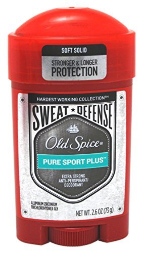Old Spice Anti-Perspirant 2.6 Ounce Pure Sport+ Soft Solid (76ml) (6 Pack)