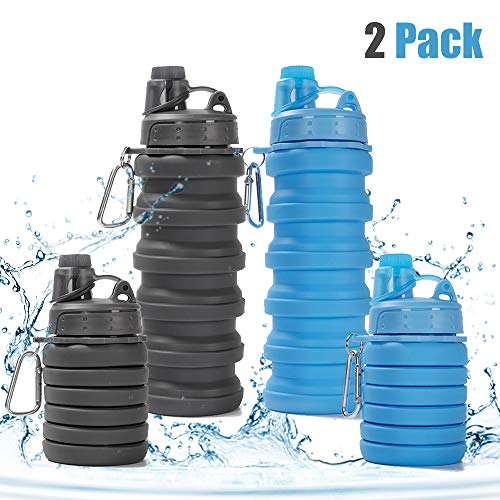 - Rosoz Collapsible Water Bottle BPA Free,FDA Approved Food-Grade Foldable Water Bottle,Portable Leak Proof Silicone Sports Travel Water Bottle