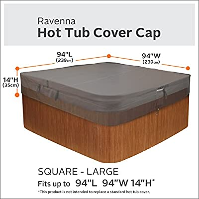 Classic Accessories Ravenna Square Hot Tub Cover, Large
