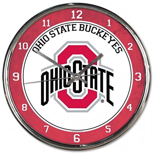 - NCAA Ohio State Buckeyes WinCraft Official Chrome Clock
