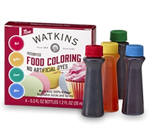 Watkins Food Coloring Assrtd 4pk