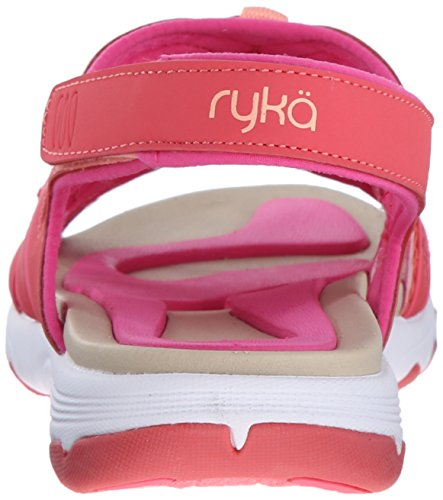 Ryka Womens Occhiata Sandalo Atletico Corallo / Fusione Corallo / Freddo Nebbia Grigio