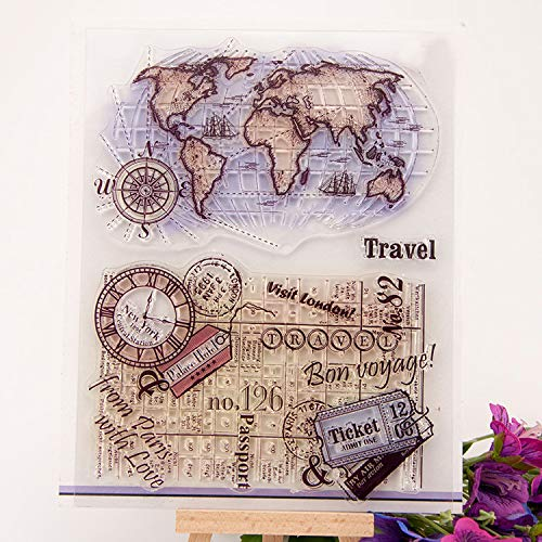 (GIMITSUI Store Travel Map's Clear Silicone Stamp)