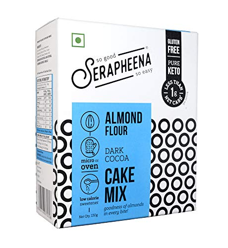 Serapheena Almond Flour Cake Mix - Dark Cocoa, 130 Grams