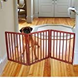 Cheap Wooden Pet Fence Gate Barrier Cage Foldable Safe Way To Confine Your Pet