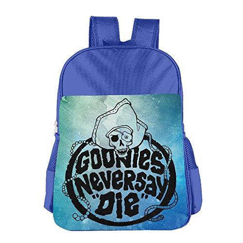 JXMD Custom Goonies Never Say Die Children School Bagpack Bag For 4-15 Years Old RoyalBlue