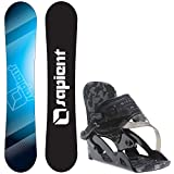 Sapient Zeus Jr 115cm Youth Snowboard + Ride Micro Bindings - Fits US Boots Sized: 2,3,4