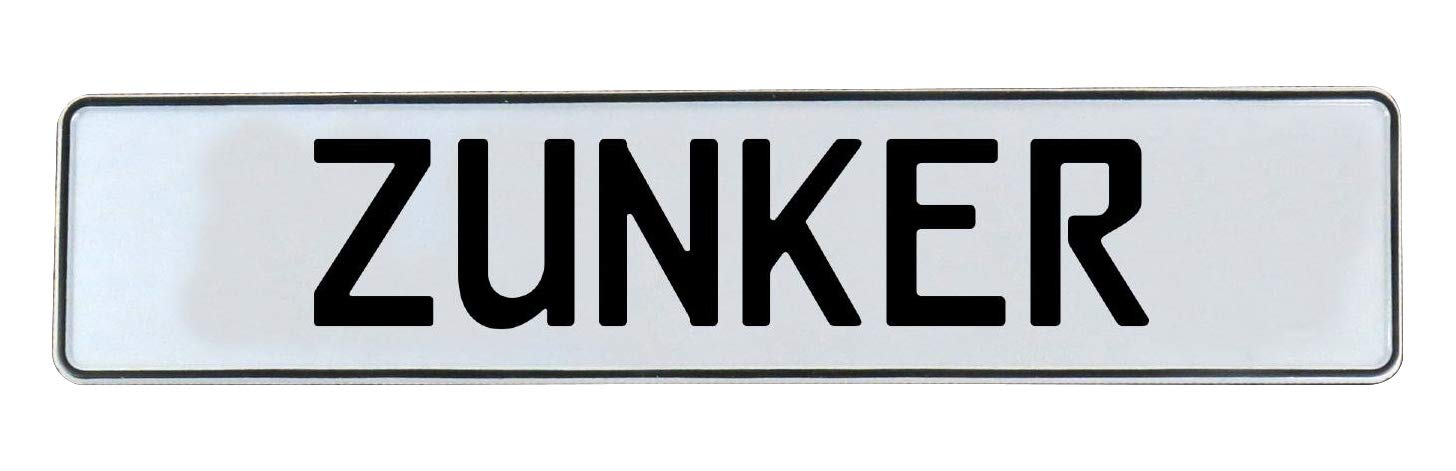 Zunker White Stamped Aluminum Street Sign Mancave Vintage Parts 779181 Wall Art