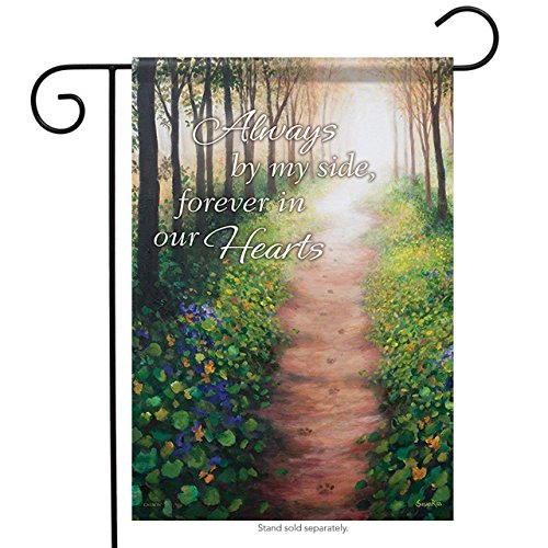 ClustersN 46845 Forever in Our Hearts Classic Outdoor Garden Flag - Heart Garden Flag