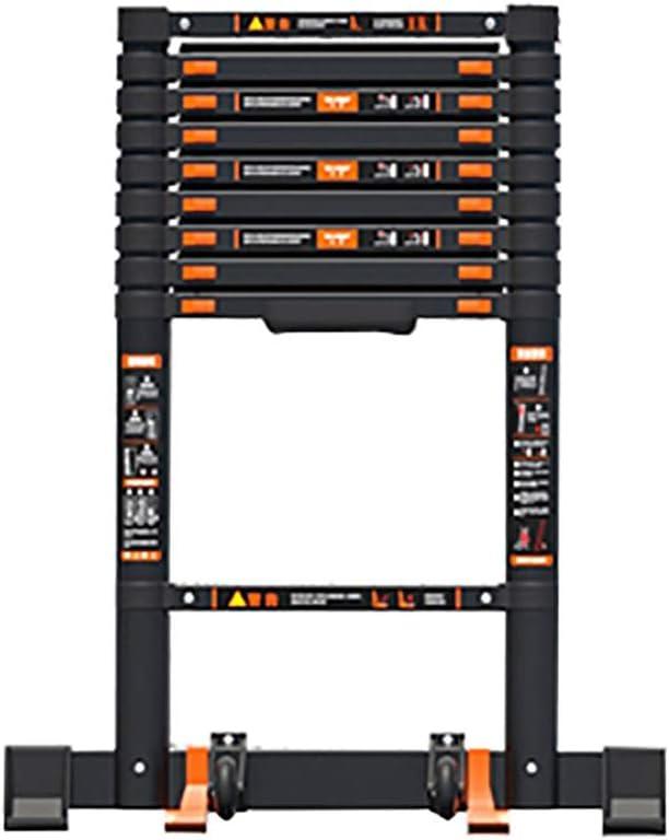 Escalera extensible Escalera telescópica Negro Multipropósito Alto Escalera Telescópica, for Trabajo Pesado De Aluminio De Extensión Telescópica for Escaleras Rectas Cubierta Quehaceres Actividades Al: Amazon.es: Hogar