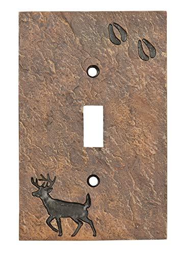 Big Sky Carvers B5050107 Deer with Tracks Single Switch Plate