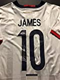 Autographed/Signed James Rodriguez Columbia White Soccer Futbol Jersey PSA/DNA COA