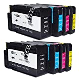 Tyjtryjty Replacement for HP 950 XL 951 XL HP950 HP951 High Capacity Patent Ink Cartridges for HP OfficeJet Pro 8610 8600 8620 8630 8100 251dw 276dw 8640 (CN045AN CN046AN CN047AN CN048AN)