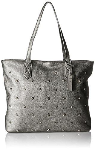 LYDC G1701 - Shoppers y bolsos de hombro Mujer Plateado (Silver)