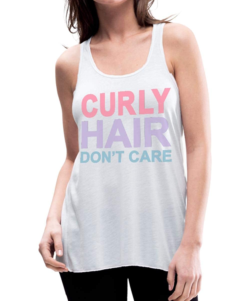 Curly Hair Don't Care Women's Flowy Tank Top by Bella