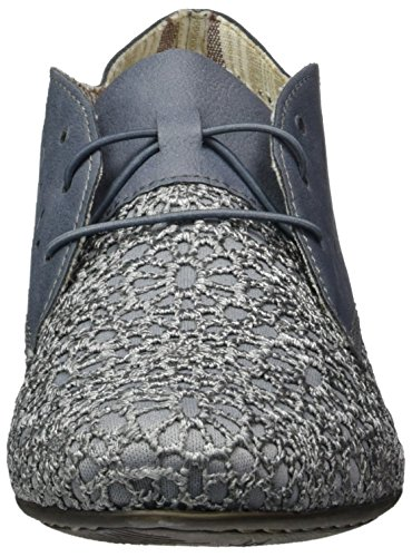 Adria Femme 14 51932 Jeans Bleu Derby Rieker R1Cqwpp