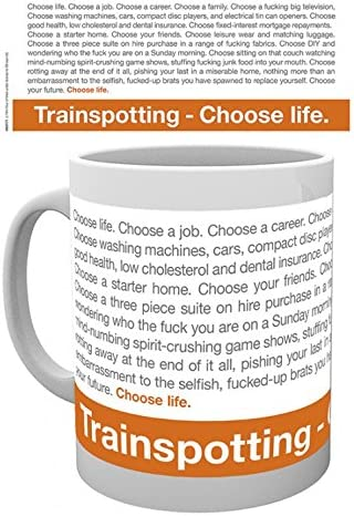 1art1 Set Trainspotting Choose Life Choose A Job Choose A Career Photo Coffee Mug 4x3 Inches And 1x Surprise Mug Furniture Decor