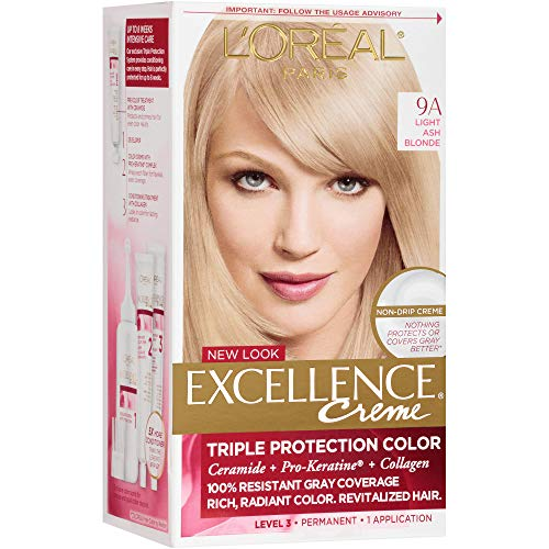 Loreal Excellence Triple Protection Color Creme, Level 3 Permanent, Light Ash Blonde/Cooler 9A 1 ct (Pack of 3)